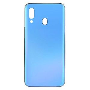 For Samsung Galaxy A40 (A405) Replacement Glass Battery Cover -Blue