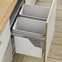 Side Mounted Pull-Out Segregated Waste Bin