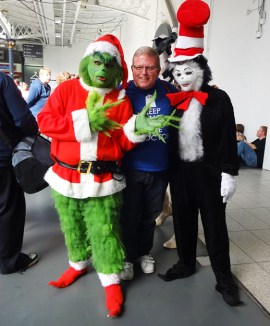 Dr Suess Grinch & Cat in the hat