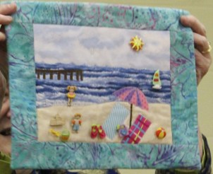 Dawn Schaben - Beach scene quilt