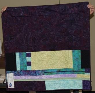 Susan Kraterfield - Round Robin quilt, back