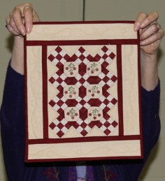 Donna Kittleson - Red and Yellow Miniature quilt