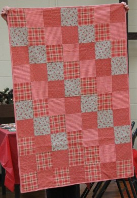Kristin Farwig - Comfort quilt. Flannel. Made from kit provided by The Barefoot Quiltessas.