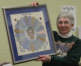 Sharon Smith Peters - Dresden Plate Photo Quilt (held by Sallie Powers)