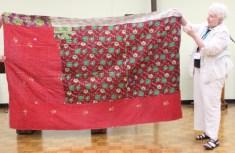 Judy Mc Whorter - Kantha blanket, front