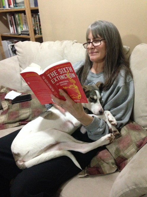 Some quality time for Mom and her granddog