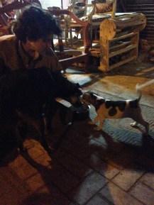 Dog mom, human mom, and pup