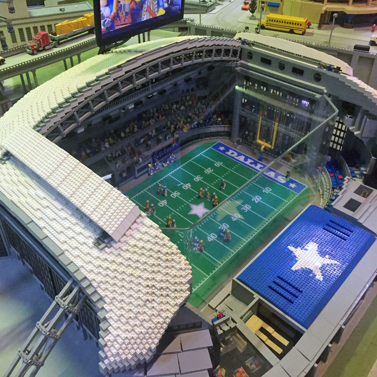 Watch Cowboys AT T Stadium get built with a gazillion LEGO bricks
