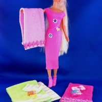 Barbie Bath Towel Collection Tutorial (Beginners Barbie Crafts Series - Project 3)