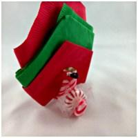 DIY Christmas Candy Cane Napkin & Mint Holder