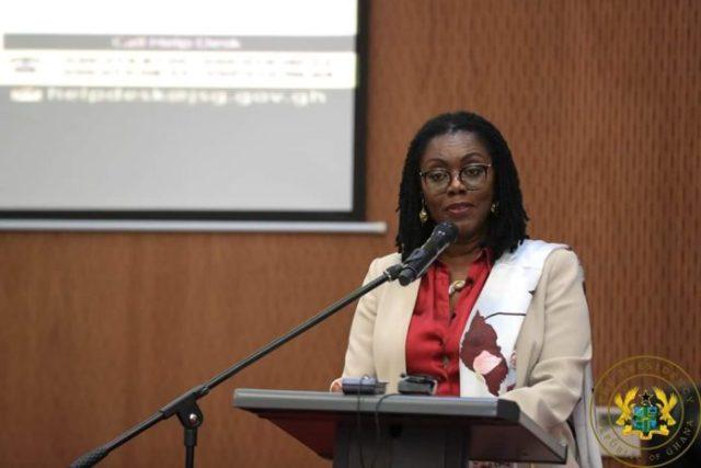 Communications Minister Mrs Ursula Owusu Ekuful