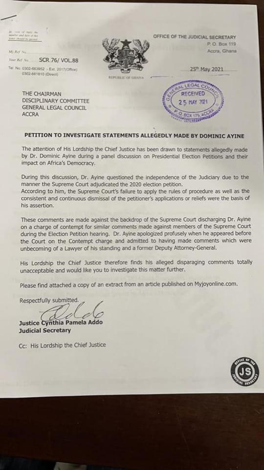 CJ's petition against Ayine 'mind-boggling' – Sammy Gyamfi By 2