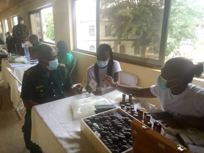 Immigration Officers in Greater Accra undergo health screening 2