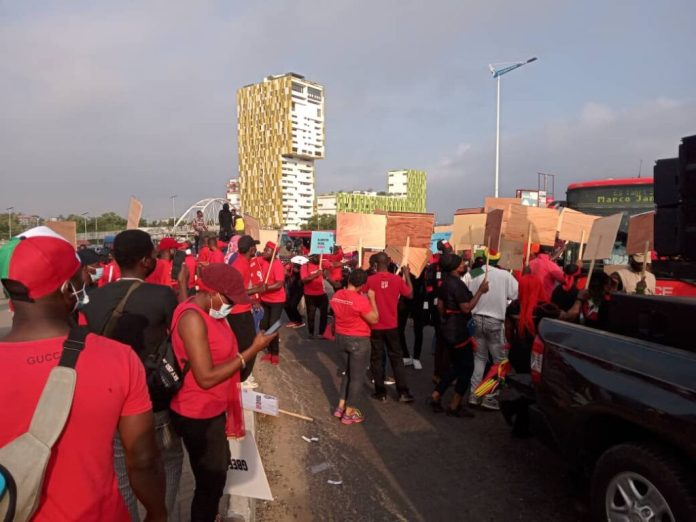 'We're tired of Akufo-Addo's dictatorship' – NDC supporters cry as they march 1