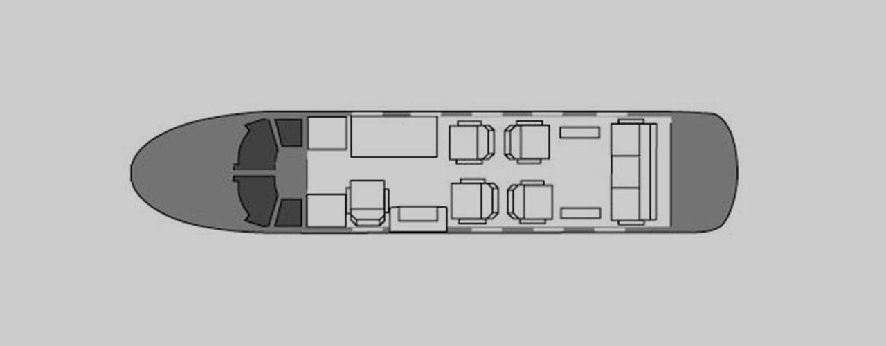 Dassault Falcon 10 Private Jet Hire