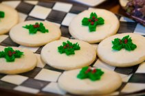 jolly holly cookies at the Skaneateles bakery - and the hot chocolate is amazing!