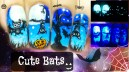Halloween Cute Bats ⎮ Glow in the Dark Freehand Nail Art Tutorial