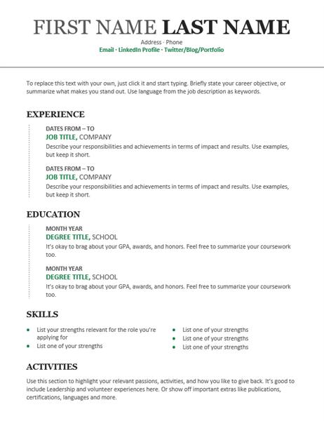 12 Resume CV STAR Resume