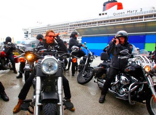 Mit der Harley in die Hafencity