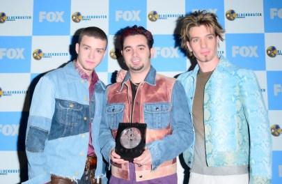 Justin Timberlake mit JC Chasez und Chris Kirkpatrick von Nsync
