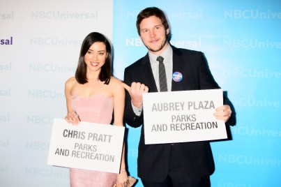 Chris Pratt und Aubrey Plaza