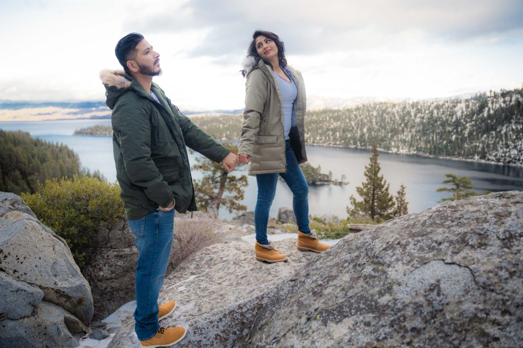 Lake Tahoe Wedding Photographer Starscape Studios at Emerald Bay Tahoe Engagement | Manpreet + Gurvinder