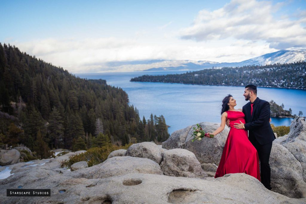 Lake Tahoe wedding and engagement session at Emerald Bay by Starscape Studios