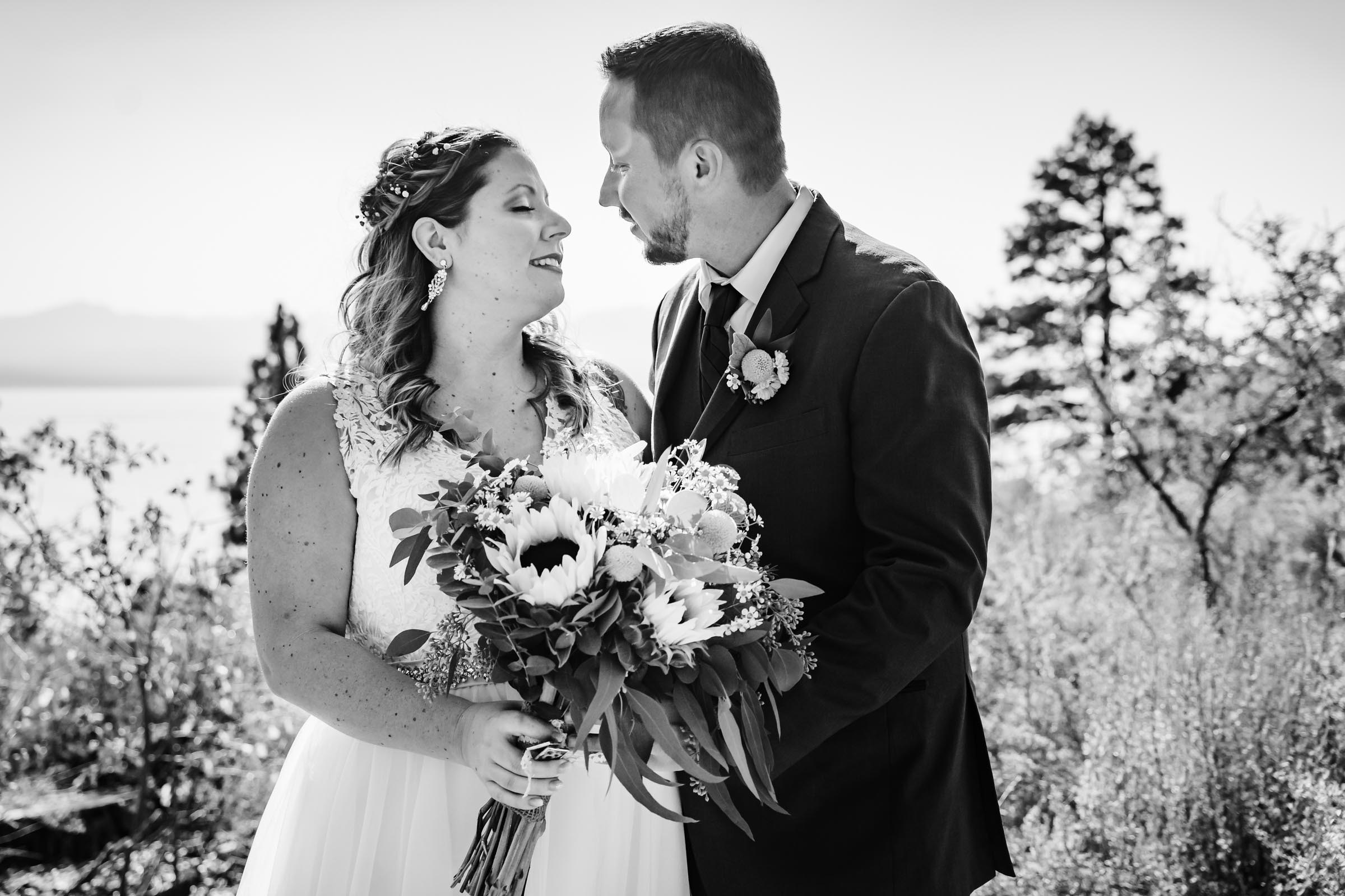First Look for wedding at Harrahs Harveys South Lake Tahoe