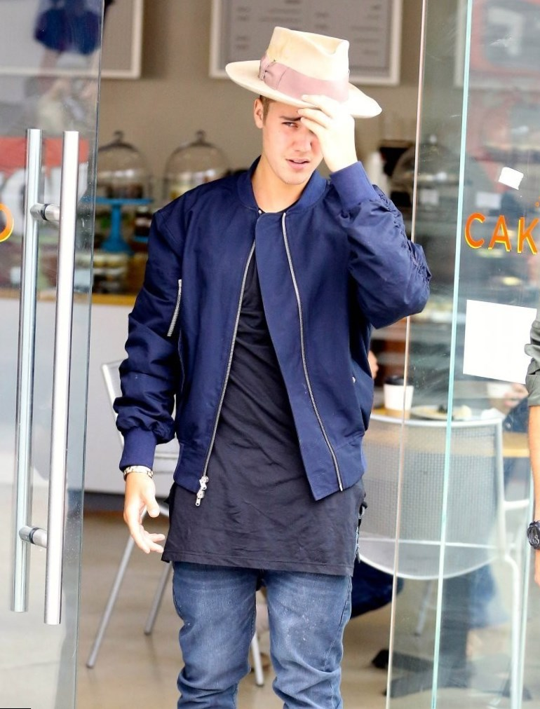Justin Bieber White Jacket