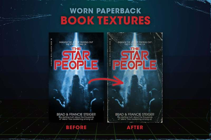 Worn 80s Paperback Book Textures