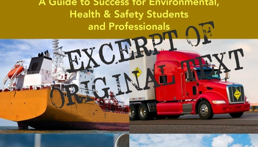 HazMat Transport – The Table of Contents