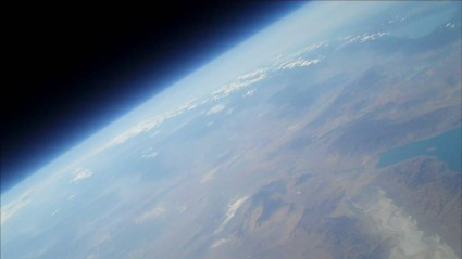 Nice View of the Earth taken from amateur rocket Qu8k by Derek Deville and team and reached an altitude of 121,000 ft just short of 23 miles (33.8 km)