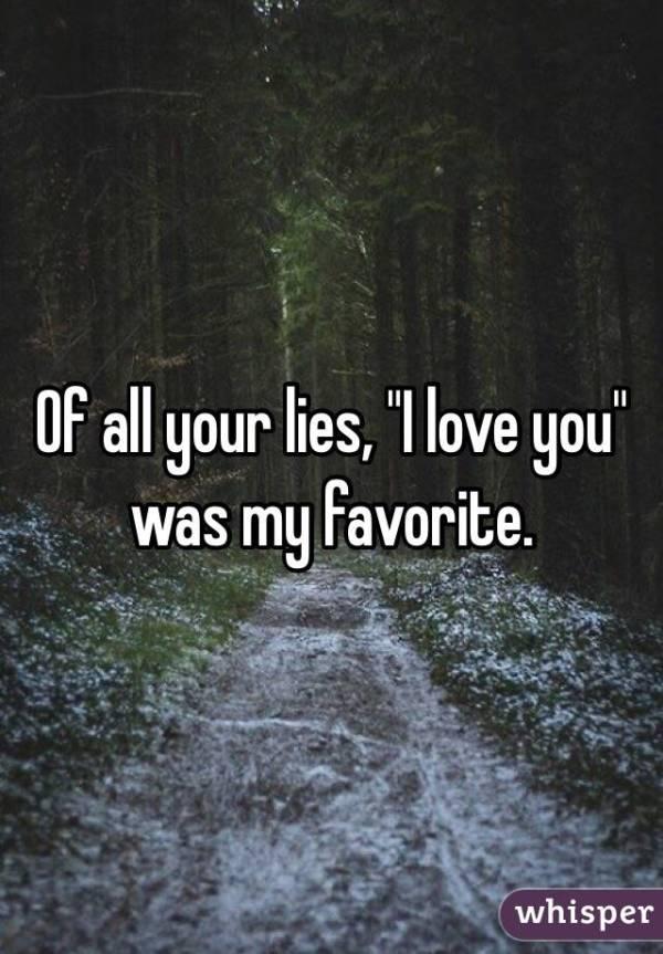 i love you lie
