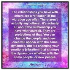 Relationships and vibration