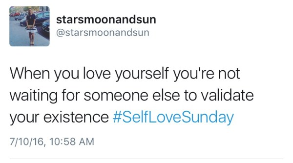self love sunday validation