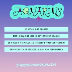 aquarius decan