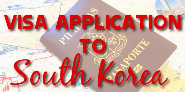 Korea Visa Application Form The Traveling Star