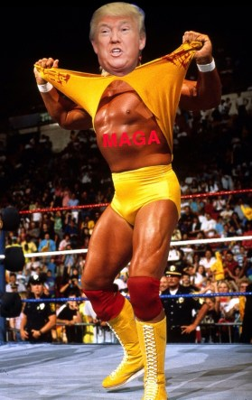 TRUMP AS HULK HOGAN