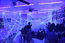 The UV room - one of the installations at #AxeBlackVictor