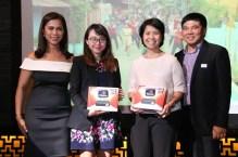 Anna Ramos of Ayala Land, Anne delos Reyes of BPI, and Mae Bernardo of Resorts World won ABS-CBN TVPlus Mahiwagang Black Boxes