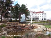 The Water Fountain on the Front Lawn of The Stanley