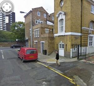 Google street view image of me walking by