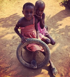 Two Ugandan children in Wakiso district