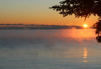 Another sea smoke sunrise
