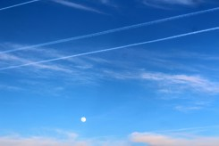 Moon and stripes and pastels