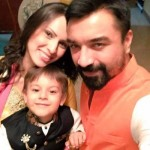 Ajaz Khan with his family