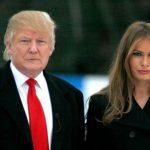 Donald Trump with his present Wife Melania Trump