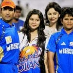 Arjun Tendulkar with his parents and sister