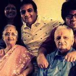 dilip joshi with his parents