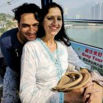 Vikas Gupta with his mother Sharda Gupta